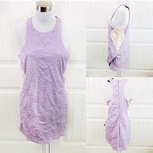 Nasty Gal Lavender Vegan Leather Racerback Dress